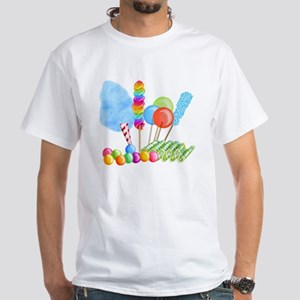 candy circus boy-  White T-Shirt