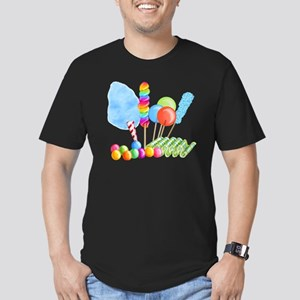 candy circus boy-  Men's Fitted T-Shirt (dark)