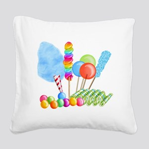 candy circus boy-  Square Canvas Pillow