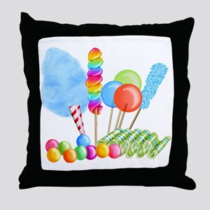 candy circus boy-  Throw Pillow