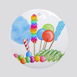 candy circus boy-  Round Ornament