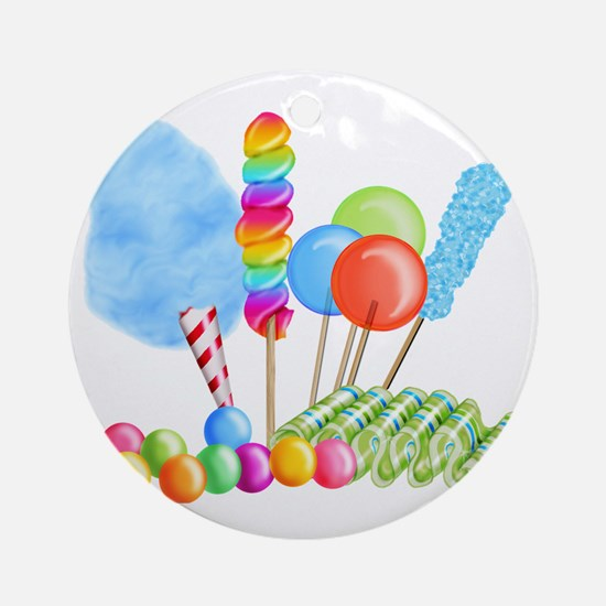 candy circus boy- png Round Ornament