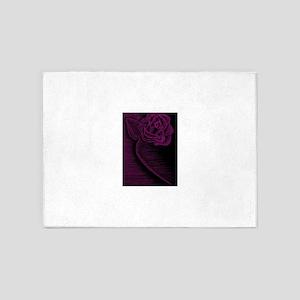 Pink Rose 5'x7'Area Rug