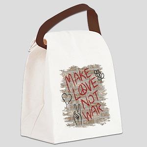 Make Love Not War Canvas Lunch Bag