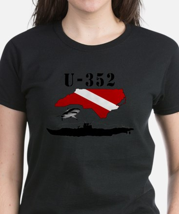 U-352 Wreck Diver Original Sc Women's Dark T-Shirt