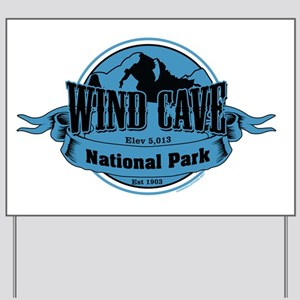 wind cave 3 Yard Sign