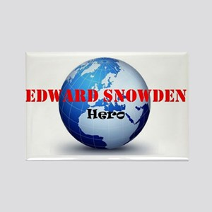edward snowden hero Rectangle Magnet