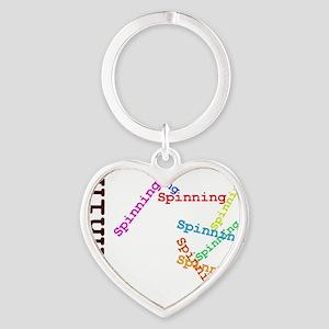 Spinning Heart Keychain