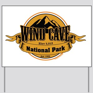 wind cave 4 Yard Sign
