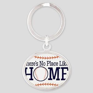 No Place Like Home Oval Keychain