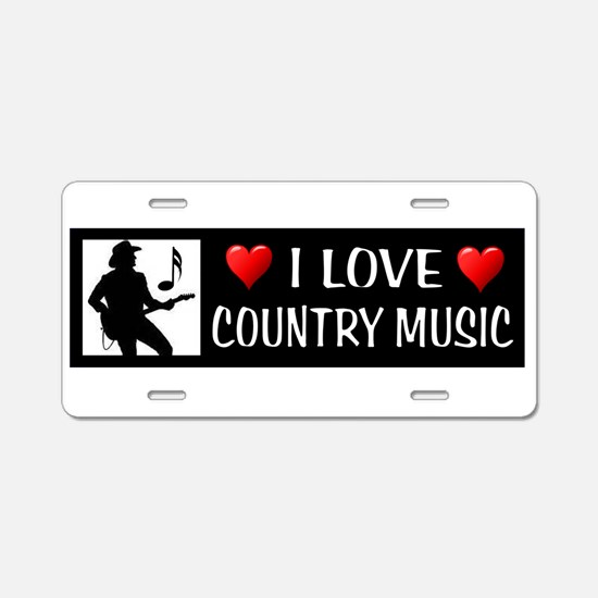 COUNTRY MUSIC Aluminum License Plate