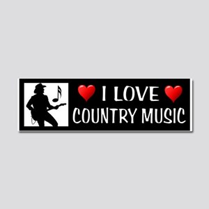 COUNTRY MUSIC Car Magnet 10 X 3
