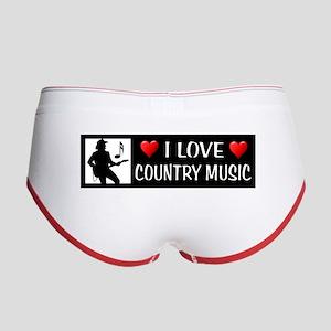 COUNTRY MUSIC Women's Boy Brief