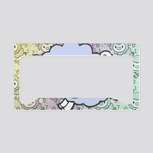 Counting Sheeps Rainbow License Plate Holder