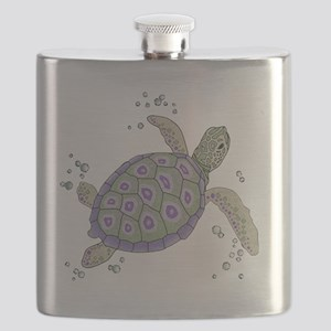 Swimming Sea Turtle Flask