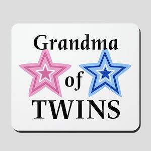 Grandma of Twins (Girl, Boy) Mousepad