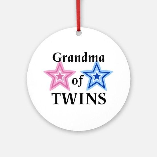 Grandma of Twins (Girl, Boy) Ornament (Round)