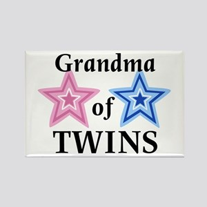 Grandma of Twins (Girl, Boy) Rectangle Magnet