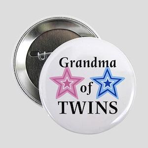 Grandma of Twins (Girl, Boy) Button