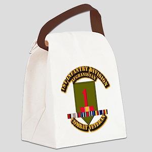 Army - 1st ID w Afghan Svc Canvas Lunch Bag