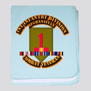 Army - 2nd ID w Afghan Svc baby blanket