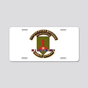 Army - 2nd ID w Afghan Svc Aluminum License Plate