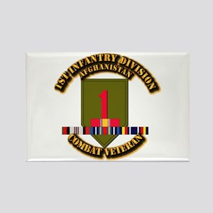 Army - 2nd ID w Afghan Svc Rectangle Magnet