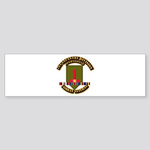 Army - 2nd ID w Afghan Svc Sticker (Bumper)