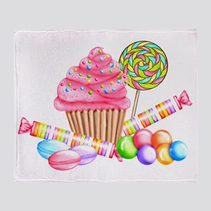 Wonderland Sweets Throw Blanket