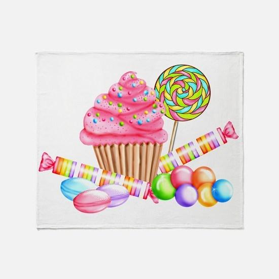 Wonderland Sweets Throw Blanket