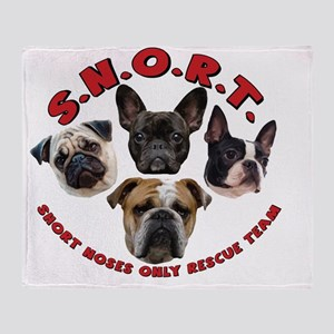 SNORT Logo No Outline Throw Blanket