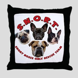 SNORT Logo No Outline Throw Pillow