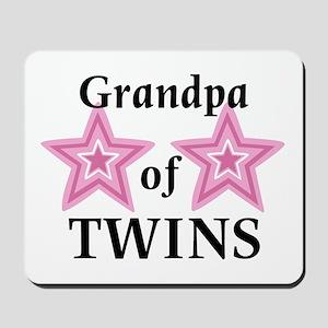 Grandpa of Twins (Girls) Mousepad