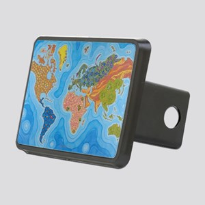 The Map of Health Rectangular Hitch Cover