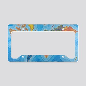 The Map of Health License Plate Holder