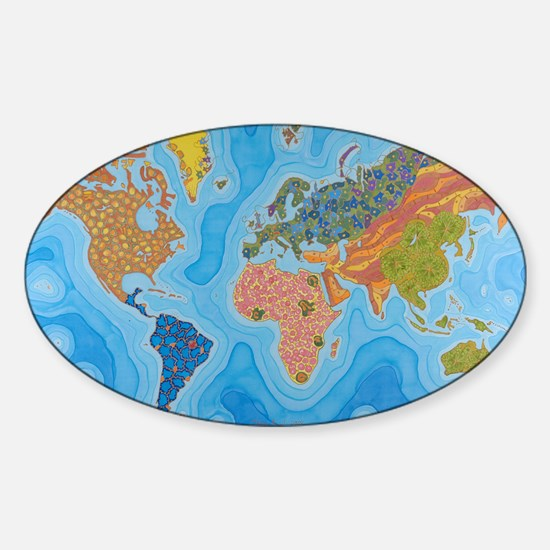 The Map of Health Sticker (Oval)