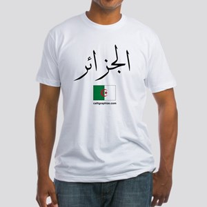 Algeria Flag Arabic Fitted T-Shirt