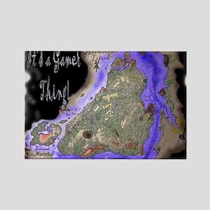 HornHawk Island Rectangle Magnet