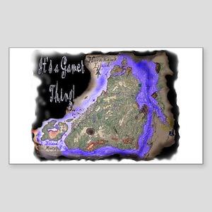 HornHawk Island Rectangle Sticker