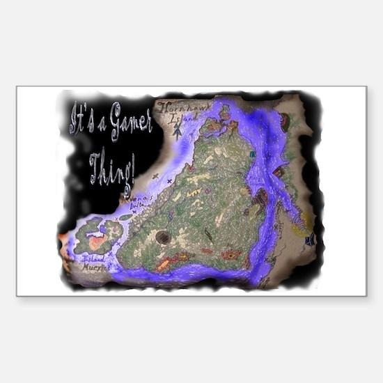HornHawk Island Rectangle Decal
