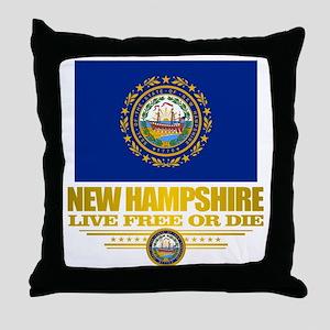 New Hampshire Pride Throw Pillow