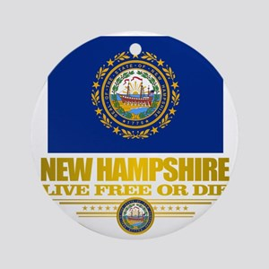 New Hampshire Pride Round Ornament