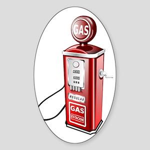 Gas Pump Sticker (Oval)