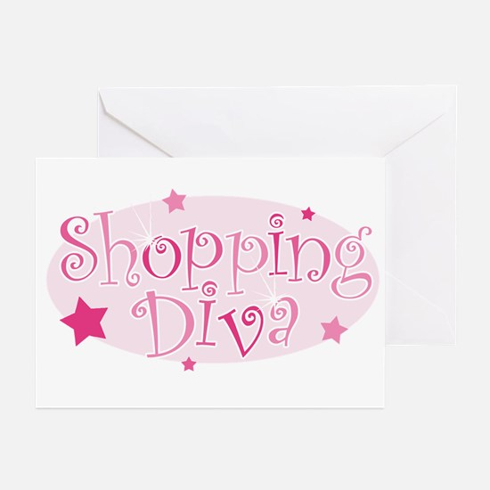 """Shopping Diva"" [pink] Greeting Cards (Package of"