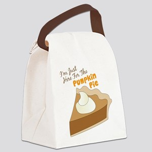Im Just Here For The Pumpkin Pie Canvas Lunch Bag