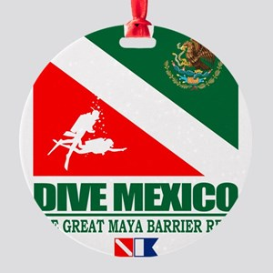 Dive Mexico Round Ornament