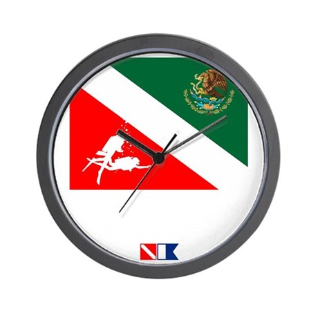 Dive Mexico Wall Clock