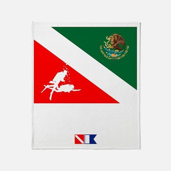 Dive Mexico Throw Blanket