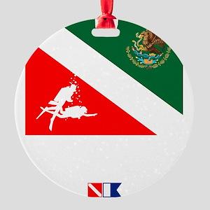 Dive Mexico Round Ornament