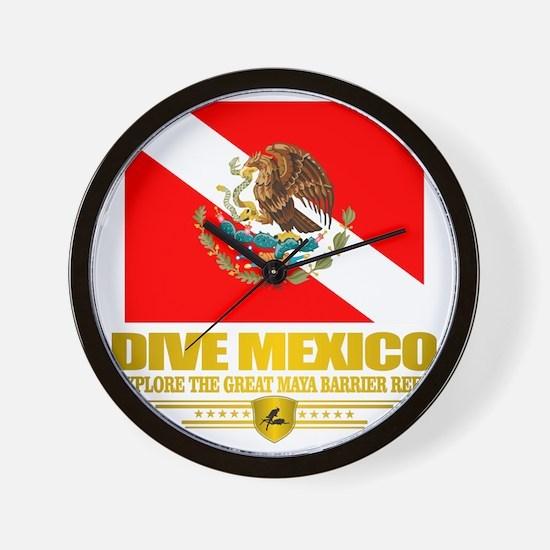 Dive Mexico 2 Wall Clock